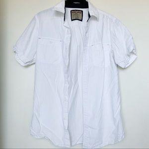 Men's Hudson & Barrow White Button Down Shirt